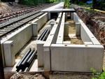 Oberasbach, 14.5.2015 - Detailansicht der noch unfertigen Bahnsteigkonstruktion