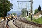 Bubenreuth 17.05.15: Bei km 26,6 wurden beide Gleise nach Osten verschwenkt