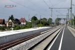Eltersdorf 23.05.15: Wetterschutzhäuschen am neuen, gepflasterten Mittelbahnsteig