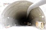 Burgbergtunnel 11.05.15: Blick vom nördlichen Portal in den Tunnel hinein