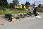 Baiersdorf 28.06.15: abgebaute Signale und Schrankenanlage