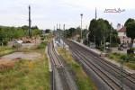 Baiersdorf 08.07.15: Blick von der Brücke ERH 5 in Richtung Süden