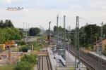 Baiersdorf 08.07.15: Blick von der Brücke ERH 5 in Richtung Süden; im Hintergrund Bohrmaschine für die Lärmschutzwand