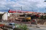 Eltersdorf 27.07.2015:  Aushub für die Fundamente der neuen Brücke