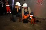 Burgbergtunnel 2.7.15: Vorbereitungen für die Sprengung durch Tunnelpatin Karin Kefer