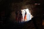 Burgbergtunnel 2.7.15: Die Öffnung wird begehbar gemacht