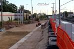 Bruck 30.07.15: Westliche Bahnsteigkante in Bau