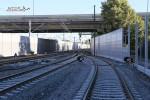 Erlangen Gbf 10.07.15: Privatanschluss Heizkraftwerk mit Gleissperren und Weichen