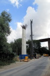 Emskirchner Brücke, 16.8.2015 - Ein Fertiger Pfeiler
