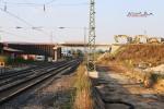 Baiersdorf 22.08.15: Teilabgebrochene Straßenbrücke ERH5; Blick von Süden