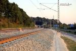 Bubenreuth 07.08.15: Blick aus der Kurve bei km 26,0 in Richtung Süden