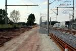 Eltersdorf 22.08.15: Blick vom ehemaligen Bahnhofsgebäude in Richtung Norden