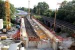 Erlangen 22.08.15: EisenErlangen 22.08.15: Brücke über die Schwabach