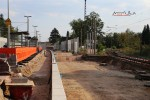 Bruck 22.08.15: Bahnsteigkante im Bau