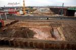 Baiersdorf 24.10.15: Fundamentbereich für das östliche Widerlager der neuen SBR ERH5