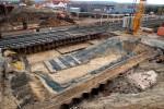 Baiersdorf 24.10.15: Fundamentbereich für das westliche Widerlager der neuen SBR ERH5