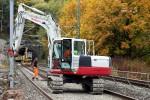 Bubenreuth 24.10.15: Die alten Schwellen werden neu verlegt