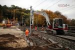 Bubenreuth 24.10.15: Schwellenverlegung nördlich des Burgbergtunnels