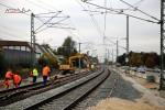 Bubenreuth 24.10.15: Die Schienen werden befestigt