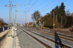 Bubenreuth 31.10.15: Blick Richtung Norden bei km 27,0; Blocksignal 2755 wurde an das neue Gleis umgesetzt