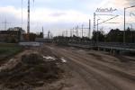 Bubenreuth 23.10.15: Blick vom nördlichen Bahnsteigende in Richtung Süden (neue Trasse)