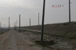 Eltersdorf 22.10.15: Neu gesetzte Fahrleitungsmasten im Bereich der Nordrampe