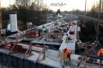 Burgbergtunnel 07.12.15: Blick auf die Schwabachbrücke, im Vordergrund ein Tunnel für Versorgungsleitungen der Stadt Erlangen