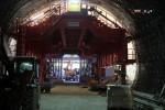 Burgbergtunnel 07.12.15: Bewehrungswagen bei Segment 4 und 3