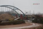 Bruck 05.12.15: Südliches Widerlager und Mittelpfeiler für die westliche Stabbogenbrücke