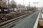 Bruck 05.12.15: Neu verlegte Weiche 501 für das Gleis nach Frauenaurach; sie ersetzt später die weiter nördlich liegende Weiche 2700