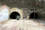 Burgbergtunnel 15.02.16: Das Nordportal