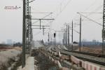 Eltersdorf 28.02.16: Blick vom Bahnübergang Größgründlach in Richtung Norden