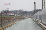 Eltersdorf 28.02.16: Blick vom Überwerfungsbauwerk in Richtung Süden