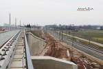Eltersdorf 28.02.16: Blick vom Überwerfungsbauwerk in Richtung Norden; hier in Bildmitte werden die S-Bahn-Gleise verlaufen und das Ferngleis unterfahren