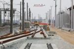 Eltersdorf 28.02.16: Vormontierte Weichen 406 und 403 im Nord-Süd-S-Bahn-Gleis
