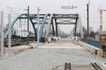 Bruck 28.02.16: Stabbogenbrücke über die BAB A3  von Norden her