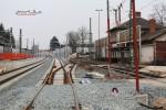 Bruck 28.02.16: Neue Abzweigweiche 901 für das Gleis in Richtung Frauenaurach