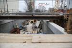 Bruck 28.02.16: Westliche Rampe zum Fußgängertunnel in Bau