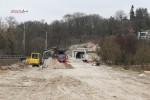Erlangen 13.3.16: Blick vom Einfahrsignal in Richtung Tunnel