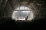 Burgbergtunnel 13.3.16: Blick aus dem Tunnel in Richtung Erlangen