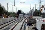 Baiersdorf 18.04.16: Blick vom Bahnsteig in Richtung Süden
