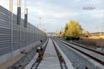 Baiersdorf 18.04.16: Das S-Bahn-Gleis reicht bis km 30,0
