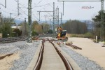 Baiersdorf 25.04.16: Blick aus dem neu verlegten Süd-Nord-Ferngleis in Richtung Norden