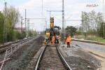 Baiersdorf 29.04.16: Alte und neue Lage des Süd-Nord-Streckengleises