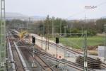 Baiersdorf 29.04.16: Blick von der Brücke Jahnstraße auf die veränderten Gleisanlagen