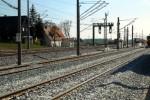 Eltersdorf 11.04.16: Blick vom Bahnhofsgebäude in Richtung Südosten