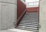 Bruck 29.04.16: Westlicher Treppenaufgang, unterer Zugang