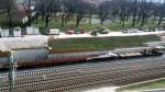 Unterfarrnbach 08.04.16: Anlieferung Weiche für Abzw. Unterfarrnbach (Schienen)