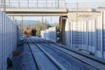 Baiersdorf 04.05.16: Blick vom nördlichen Bahnsteigende in Richtung Norden