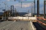 Bubenreuth 04.05.16: Blick vom km 27,4 in Richtung Norden; rechts die westliche Stütze für die Behelfsbrücke